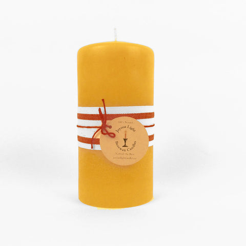 "Pillar Candle – 3"" wide x 4"" tall"