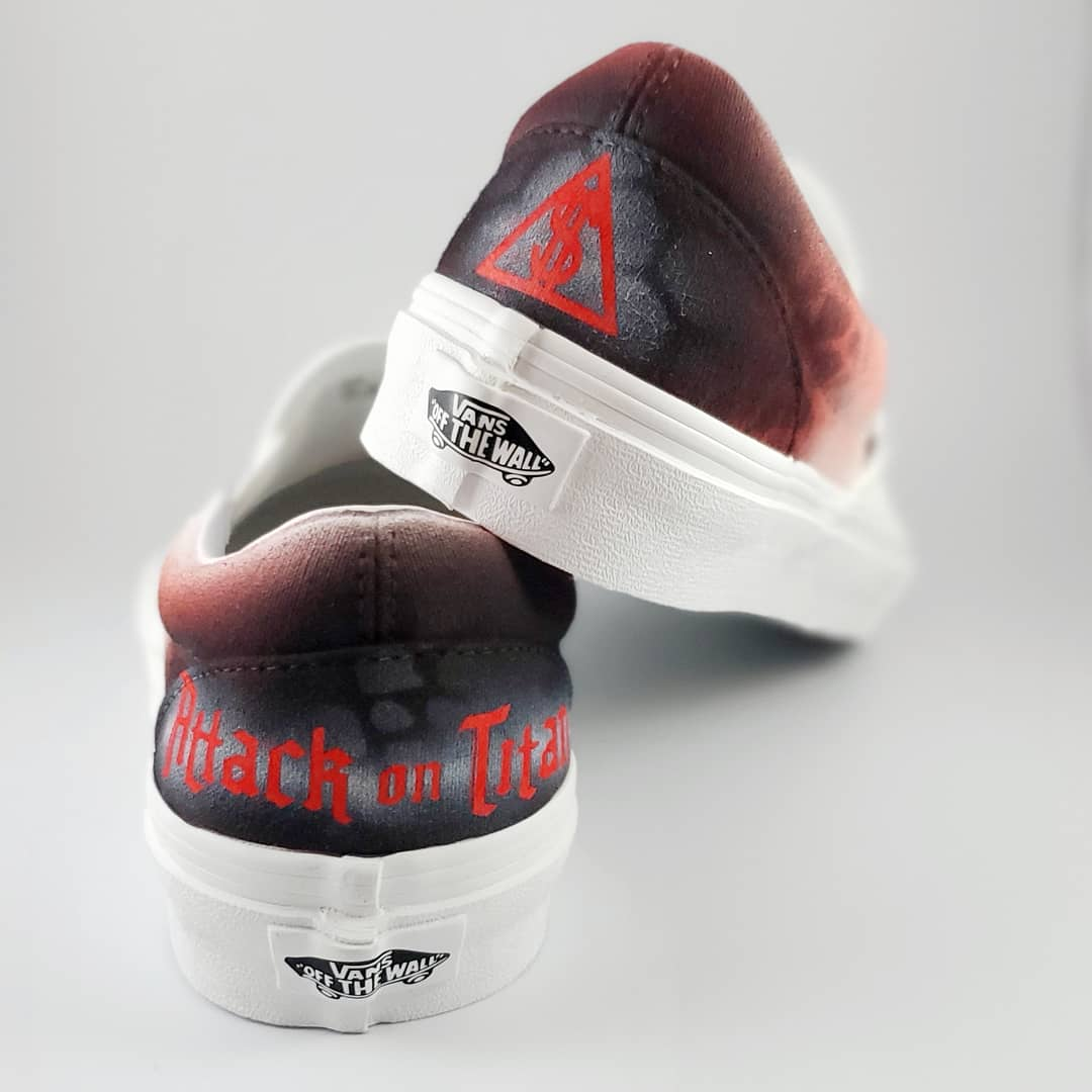 Custom Attack On Titan Slip on Vans