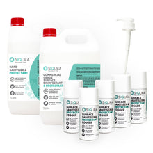 Load image into Gallery viewer, Siqura Back to Business Pack - LARGE (Surface Protectant, Hand Sanitiser & Foggers)