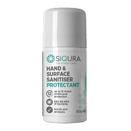 100g Siqura 2in1 Aerosol - Hand Sanitiser | Surface Disinfectant | 12HR Protection, Antibacterial Protectant