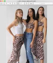 Load image into Gallery viewer, pink n brown zebra skirt