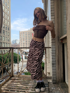 pink n brown zebra skirt