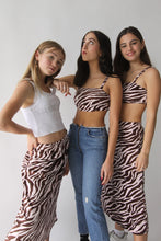 Load image into Gallery viewer, pink n brown zebra tank