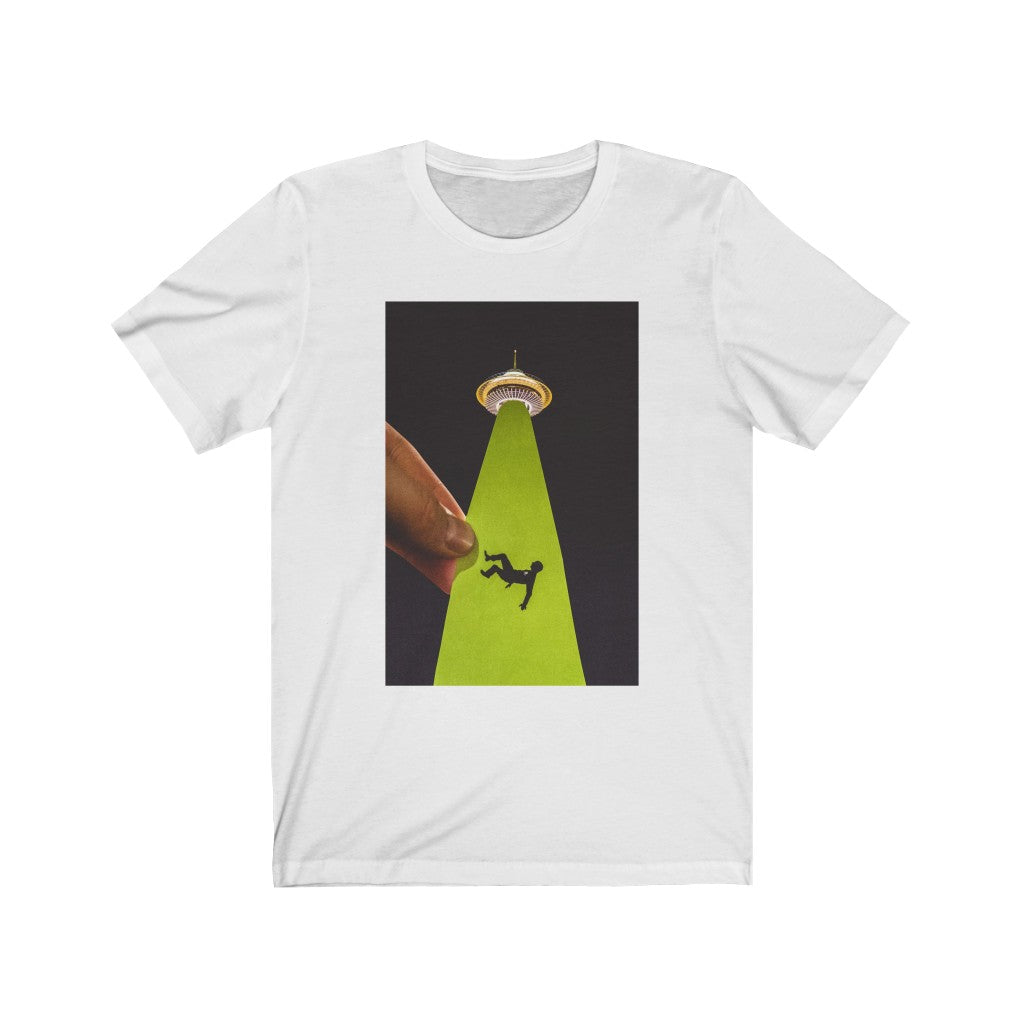 UFO Abduction + Space Needle - Men's Tee