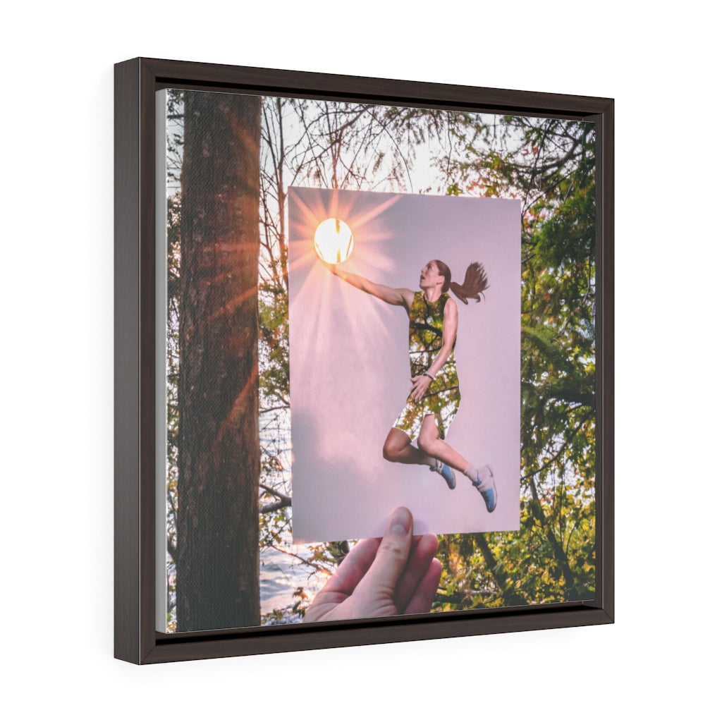 Sue Bird + Sunset - Framed Canvas