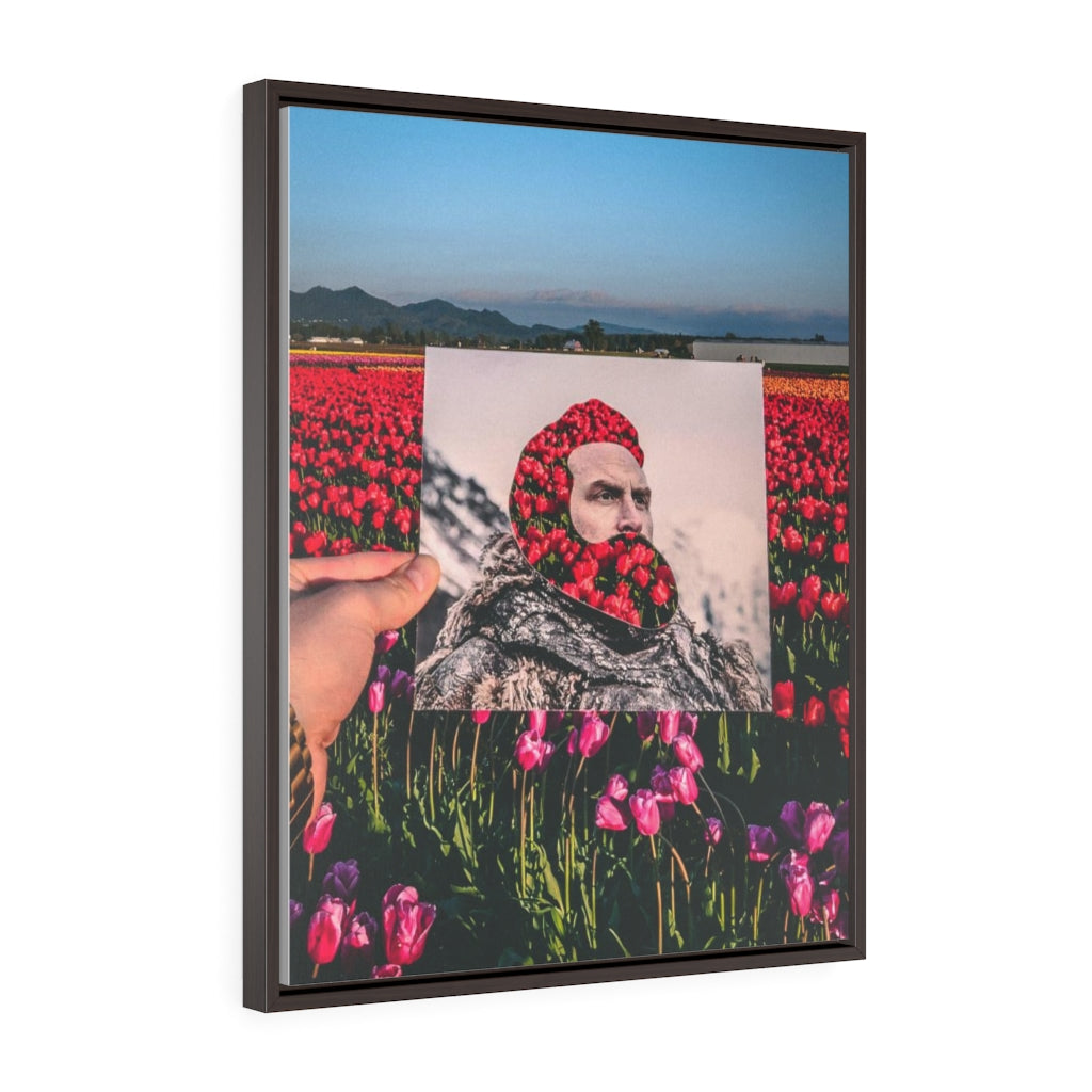 Tormund + Skagit Valley Tulips - Framed Canvas Print