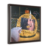 Marshawn Lynch + Christmas Lights - Framed Canvas Print