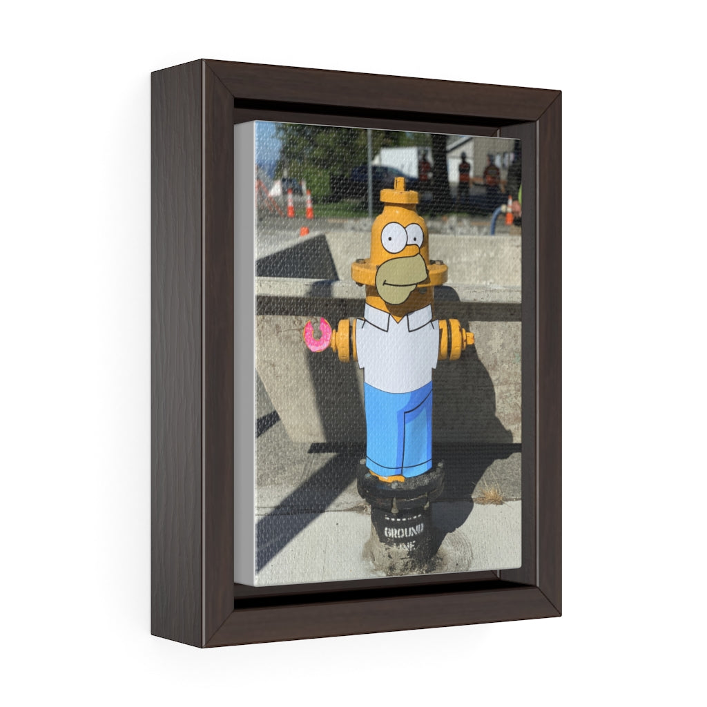 The Simpson's Homer + Fire Hydrant - Framed Canvas