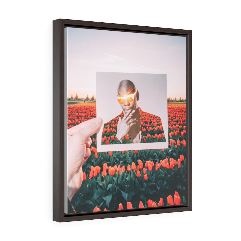 Dave Chappelle + Tulips - Framed Canvas