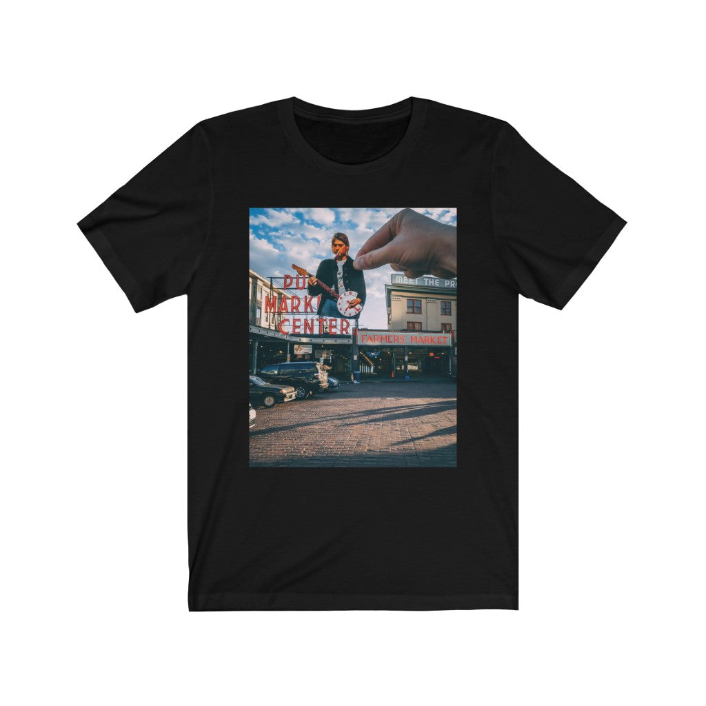 Kurt Cobain + Pike Place Market - Men's Tee