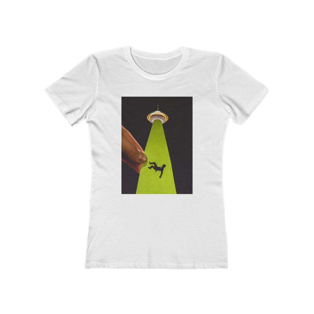 UFO Abduction + Space Needle - Women's Tee
