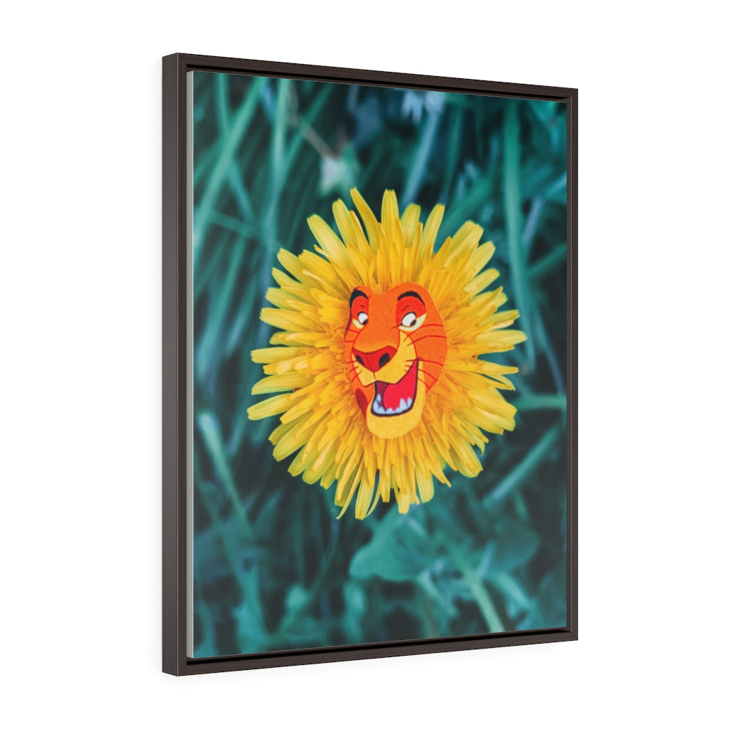 DandeLion King - Framed Canvas