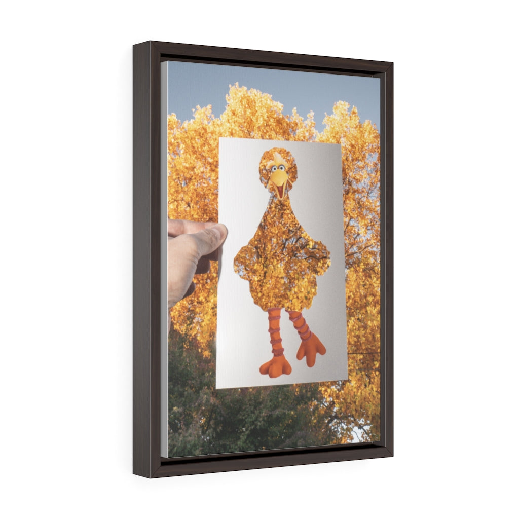 Big Bird + Fall Tree - Framed Canvas Print