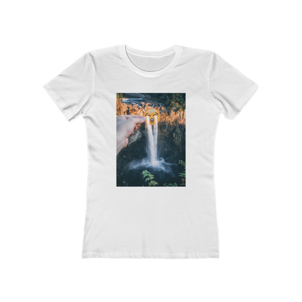 Crying Emoji + Snoqualmie Falls - Women's Tee