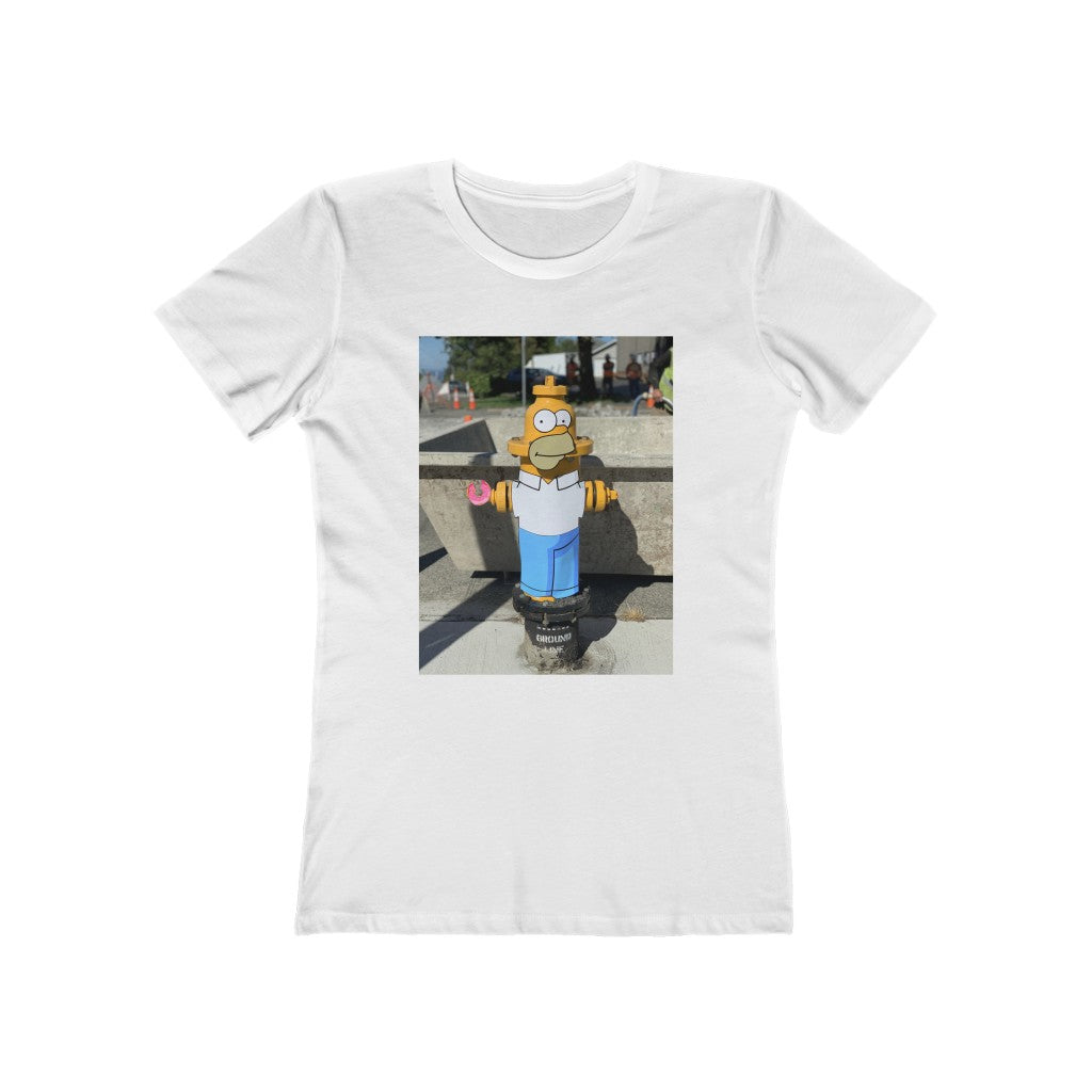 The Simpson's Homer + Fire Hydrant - Women's Tee