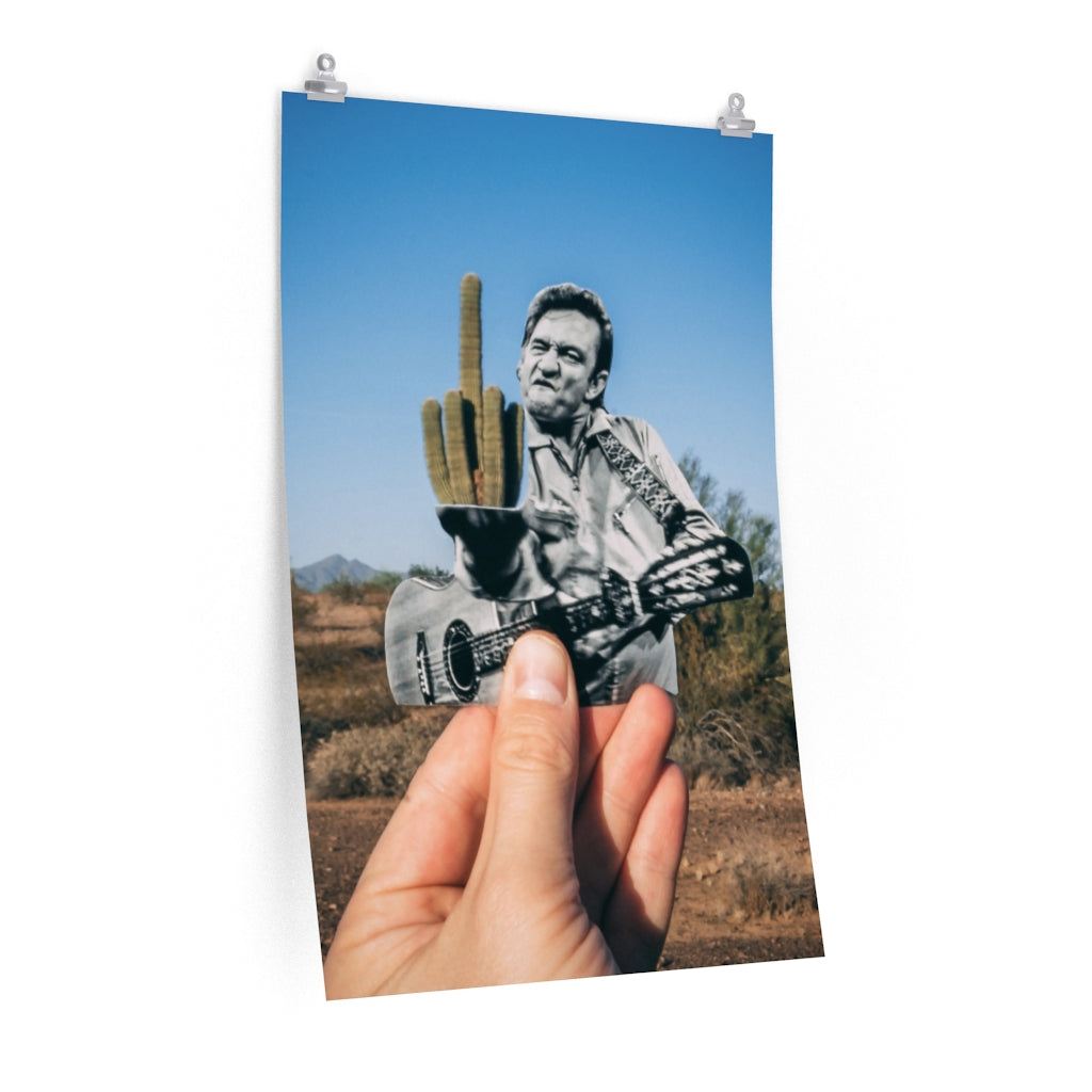 Johnny Cash + Cactus - Print