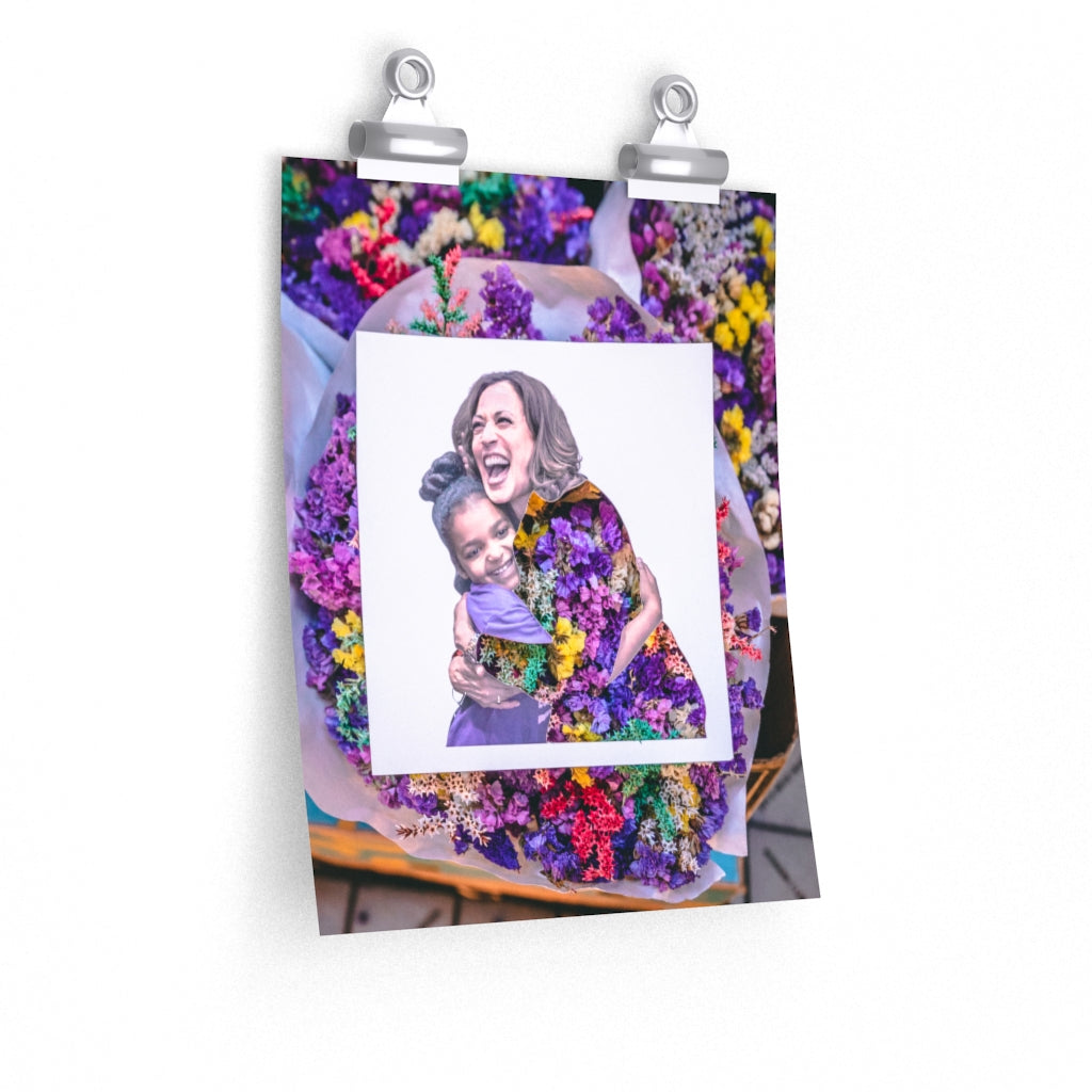 Kamala Harris + Pike Place Flowers Print
