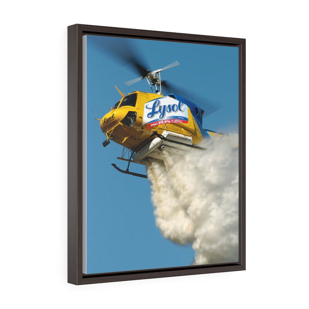 Lysol Helicopter - Framed Canvas