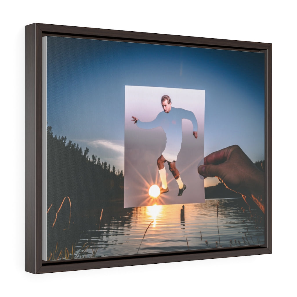 Daniel Phelps + Sunset - 80's Framed Canvas