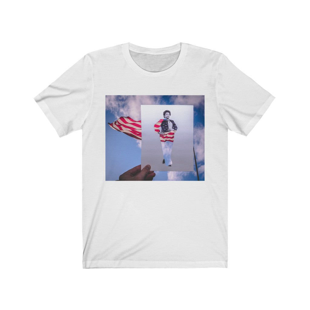 Stacey Abrams + American Flag - Men's Tee
