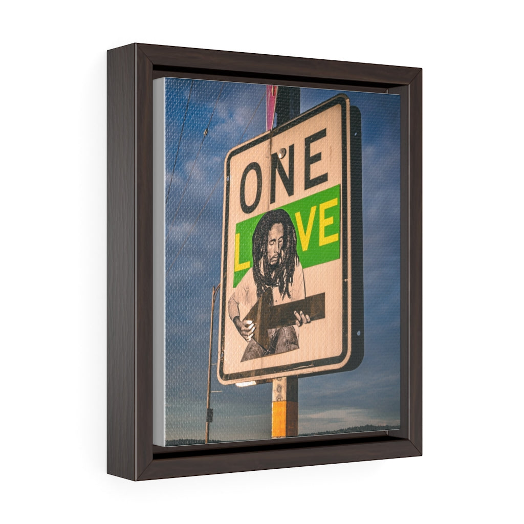 Bob Marley One Love - Framed Canvas