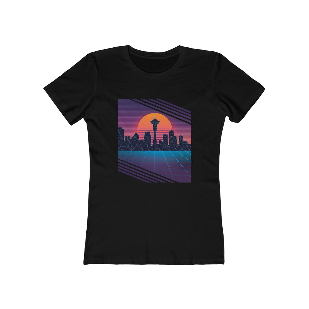 Vaporwave Seattle Skyline Women's 80's Tee