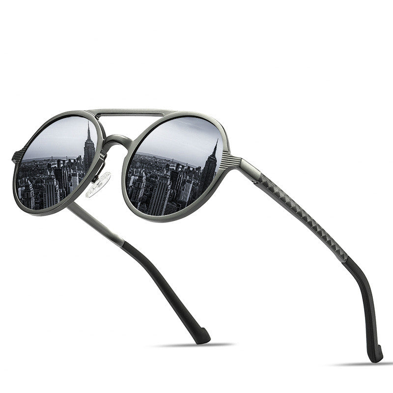 Sunglasses Men Polarized Vintage Round