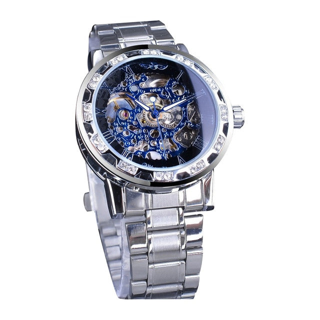 T-WINNER Man Mechanical Watch Fashion Hollow Luxury Design Business Watches Mens