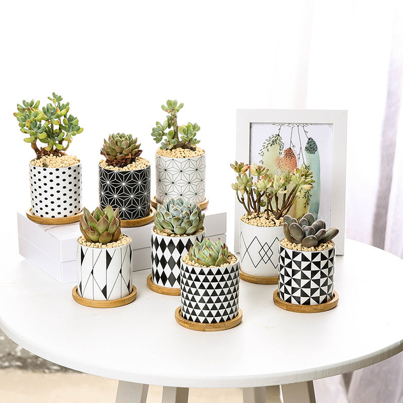 Modern Geometric Pattern Ceramics Flower