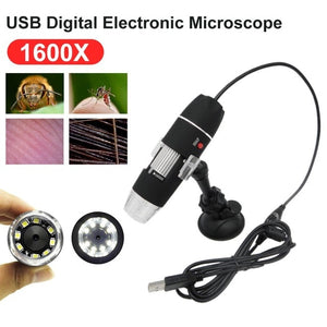 Wholesale1600X /1000X/500X Mega Pixels 8 LED Digital USB Microscope