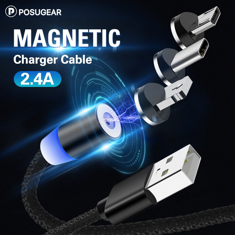 Posugear 1M 2M Magnetic Cable Micro usb Type C Fast Charging