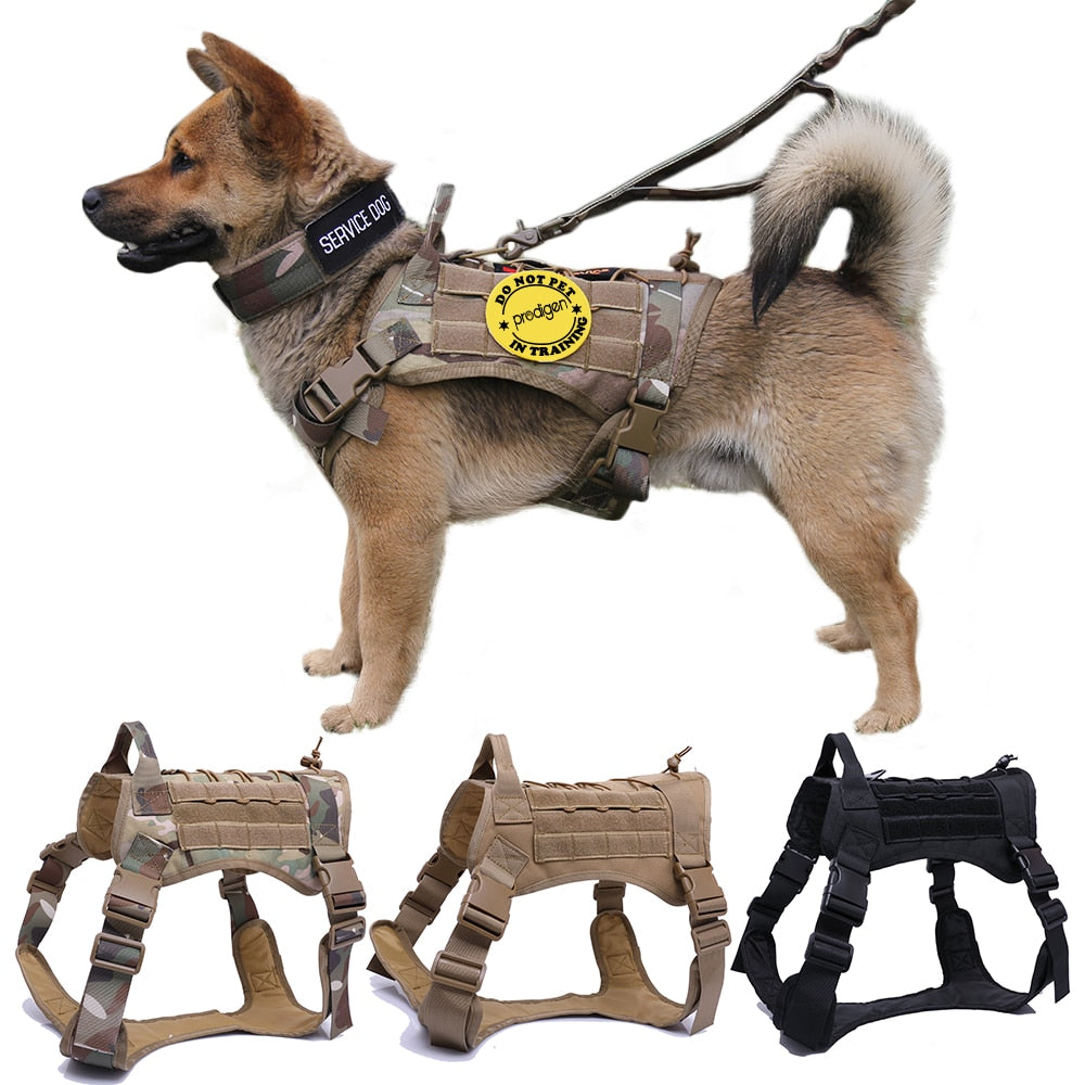 Military Tactical Dog Harness German Shepherd