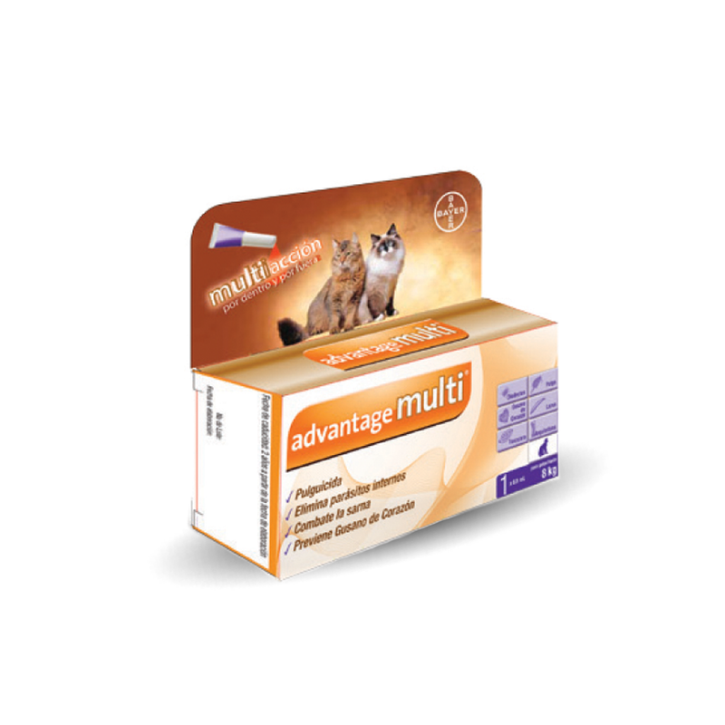 Bayer Anti Pulgas Advantage Multi Cat 0.8ml - Cuidado Perros y Gatos
