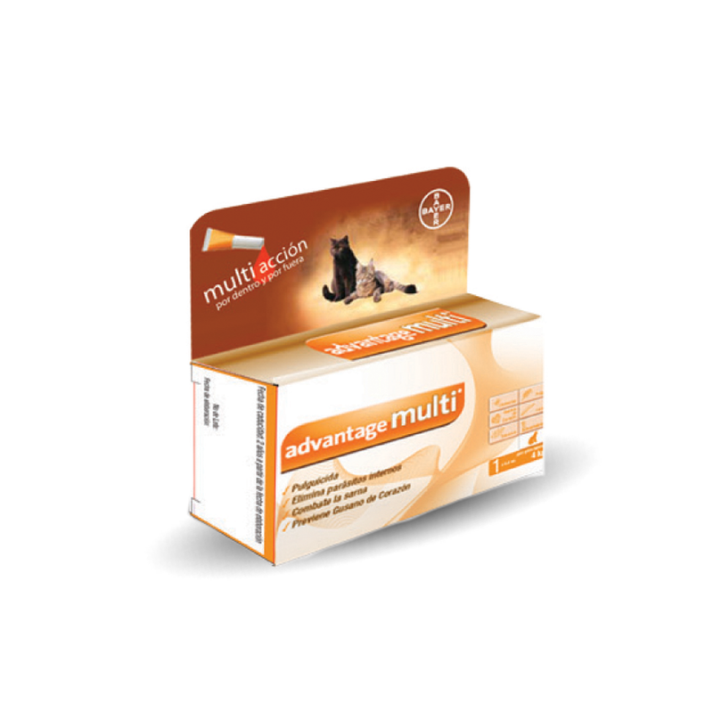 Bayer Anti pulgas Advantage Multi Cat 0.4 ml - Cuidado para Gato