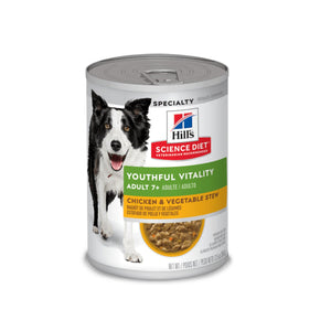 Hill's Science Diet Adult 7+ Youthful Vitality 0.37kg - Alimento Húmedo Perro Senior