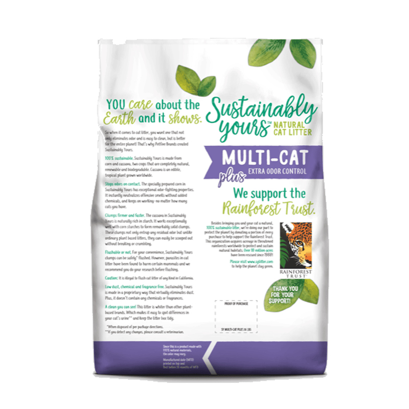 Sustainably Yours Multi-Cat Plus Extra Odor Control - Accesorios