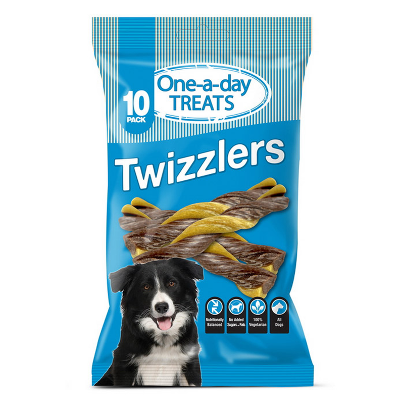 One-a-day Treats Twizzlers 10 Pack - Premios para perro