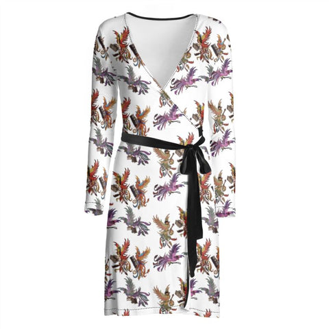 White KPH Multi Ladies Wrap Dress