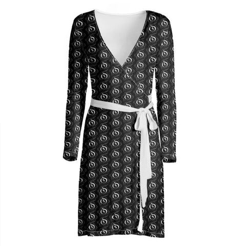 White on Black EOP Ladies Wrap Dress