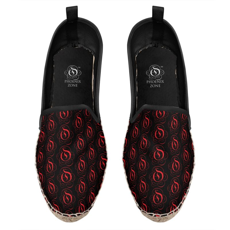 Red on Black EOP Loafer Espadrille Shoes