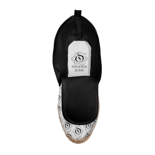 Black on White EOP Hi Top Espadrille Shoes