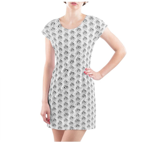 Black on White EOP Ladies T Shirt Dress