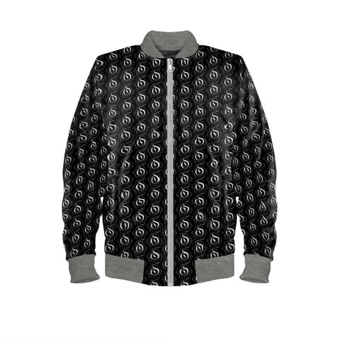 White on Black EOP Mens Bomber Jacket
