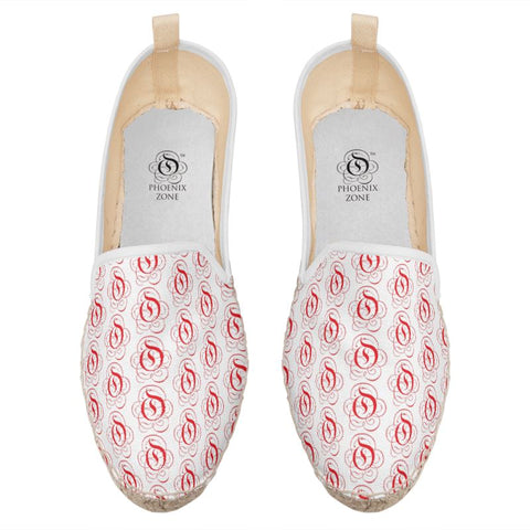 Red on White EOP Loafer Espadrille Shoes