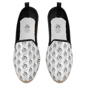 Black on White EOP Loafer Espadrille Shoes