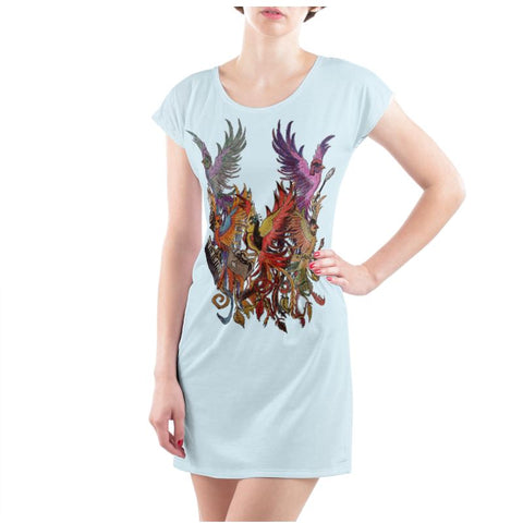 Sky/Black KPH Ladies T Shirt Dress