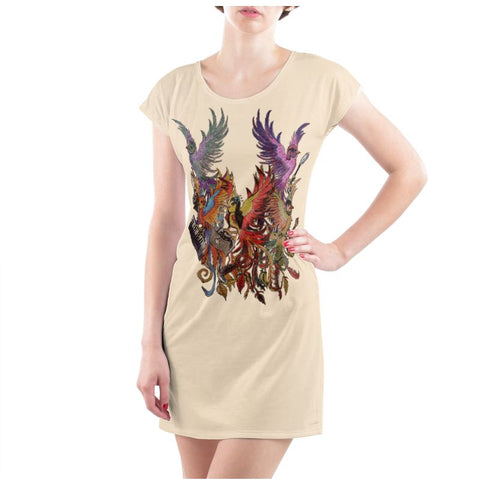 Cream/Black KPH Ladies T Shirt Dress
