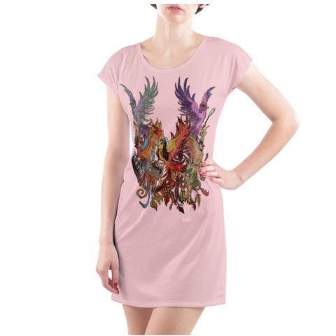 Rose/Black KPH Ladies T Shirt Dress