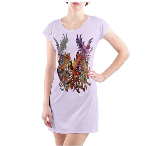 Lilac/Black KPH Ladies T Shirt Dress