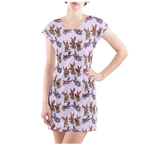 Lilac KPH Multi Ladies T Shirt Dress